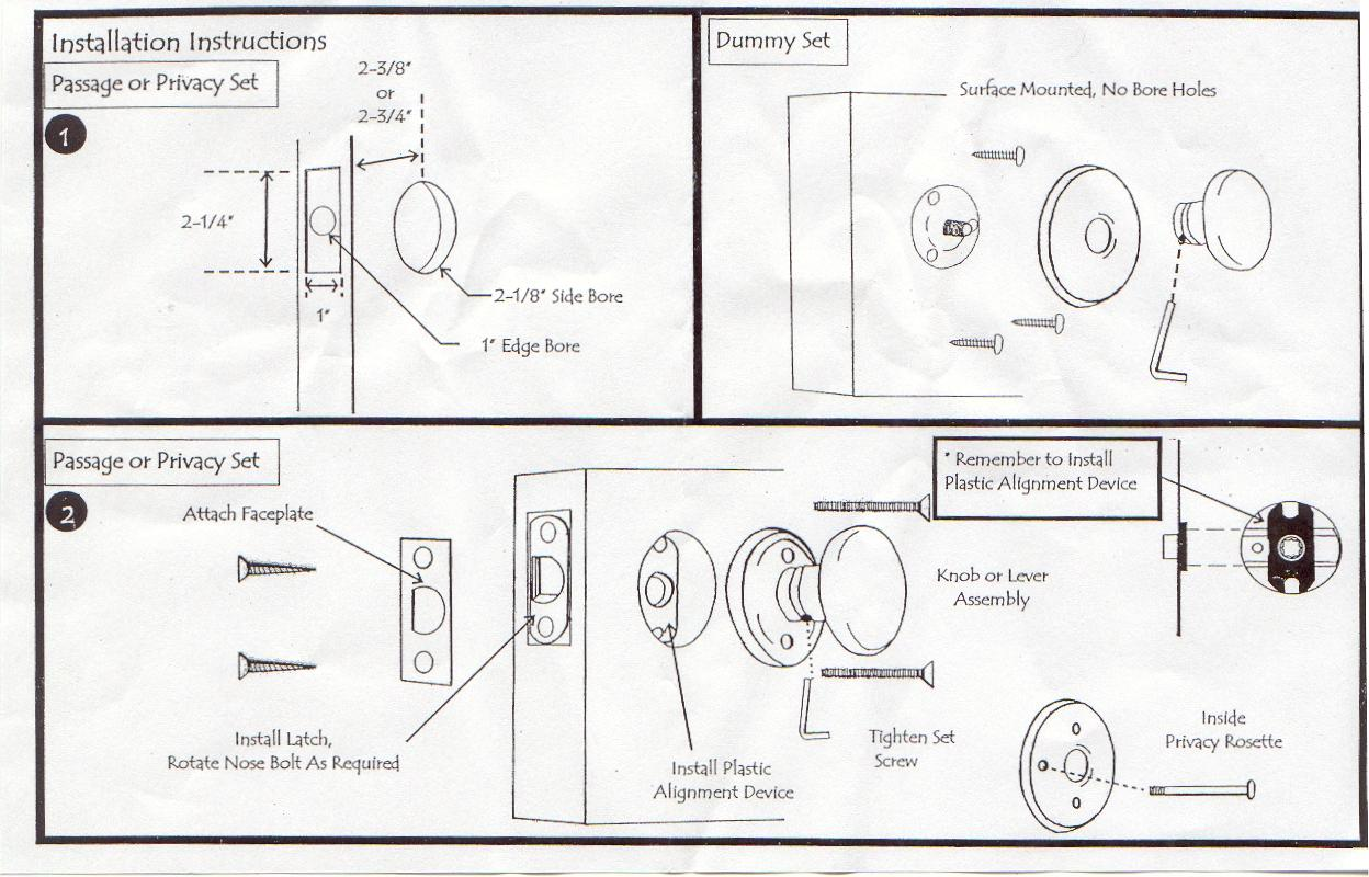 Emtek by knobs llc - Installing a lock on a bedroom door ...